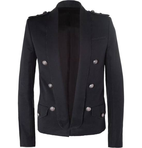 Balmain Raw Cotton Military Blazer / Jacket Size US S / EU 44-46 / 1