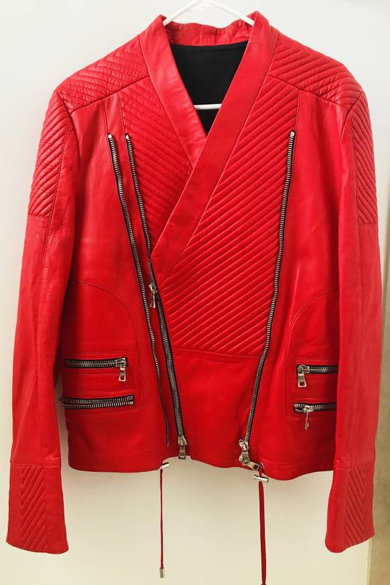 Balmain Nappa Leather Biker Jacket Size US M / EU 48-50 / 2