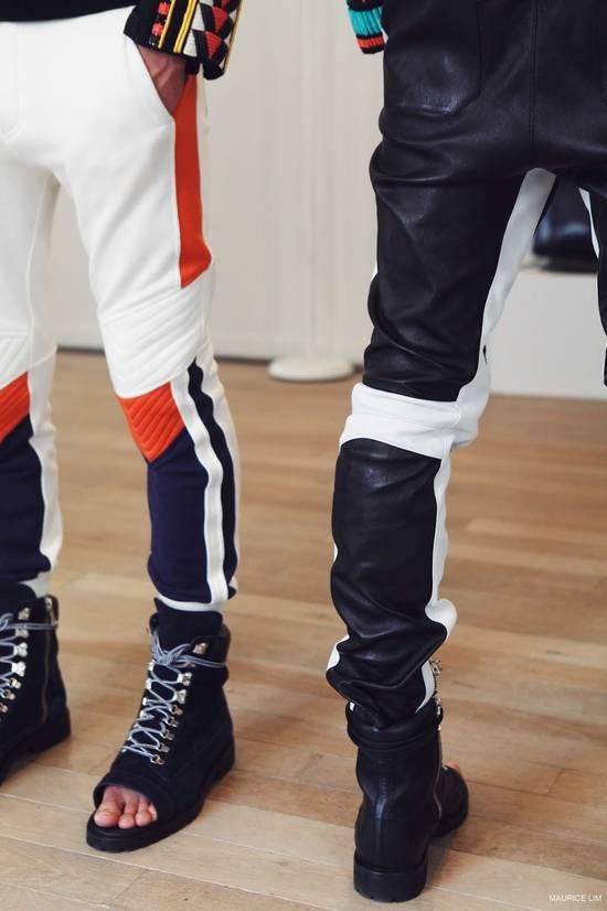 Balmain Balmain Men's Black Biker Style Nappa Leather Trousers Size US 32 / EU 48 - 8