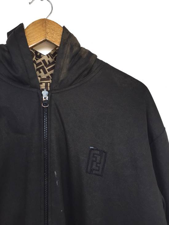 Vintage Zucca Monogram Two Side Drawstring Water Proof Oversized Hoodie Zipper Jacket Size US L / EU 52-54 / 3 - 7