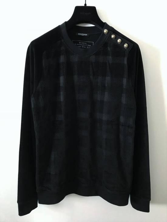 Balmain Size Small - Checked Button Shoulder Sweatshirt- FW16 - $1050 Retail Size US S / EU 44-46 / 1