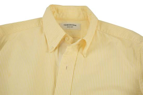 Thom Browne White Grossgrain, Yellow Stripe Oxford Size US L / EU 52-54 / 3 - 1