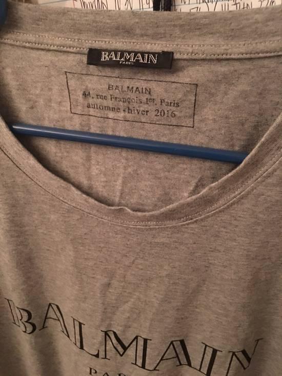 Balmain Grey Logo Tee Size US XL / EU 56 / 4 - 1