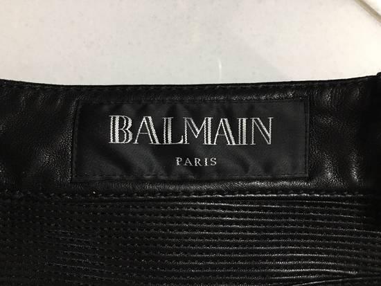 Balmain Leather Biker Jeans Size US 32 / EU 48 - 3