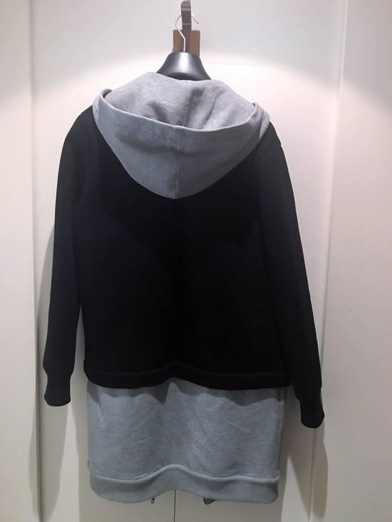 Givenchy Grey / Black Neoprene Layered Coat Size US M / EU 48-50 / 2 - 1