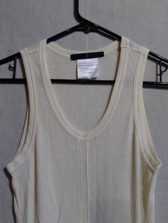 Julius Shredded Hem Ribbed Tank Top White Size US M / EU 48-50 / 2 - 1
