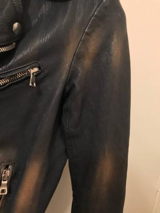 Balmain Navy Balmain Leather Jacket Size US S / EU 44-46 / 1 - 6