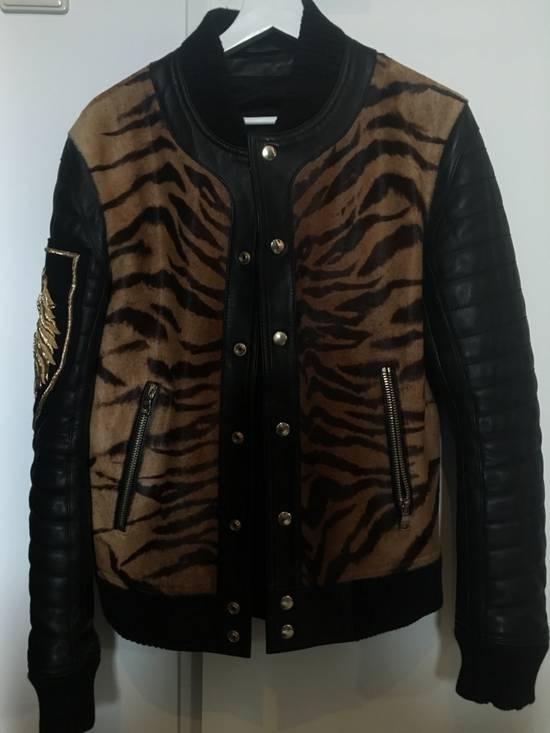 Balmain Rare Tiger Chest Biker Jacket Size US S / EU 44-46 / 1 - 3