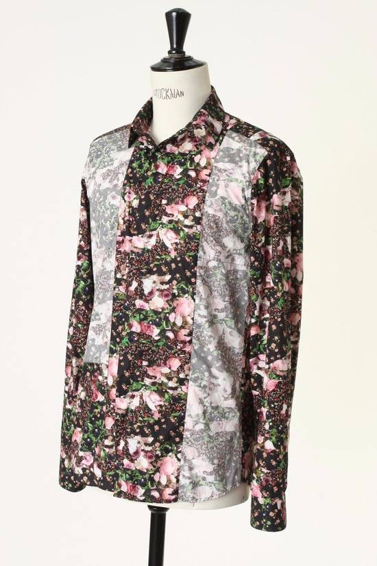 Givenchy GIVENCHY Pre14 reversed panel rose floral digital print cotton shirt US40 FR50 Size US M / EU 48-50 / 2 - 4