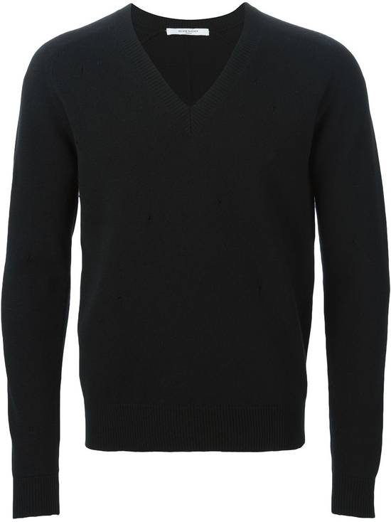 Givenchy Givenchy Destroyed Distressed Wool Slim Fit Rottweiler Knit Sweater Jumper size L (fitted M) Size US M / EU 48-50 / 2 - 1