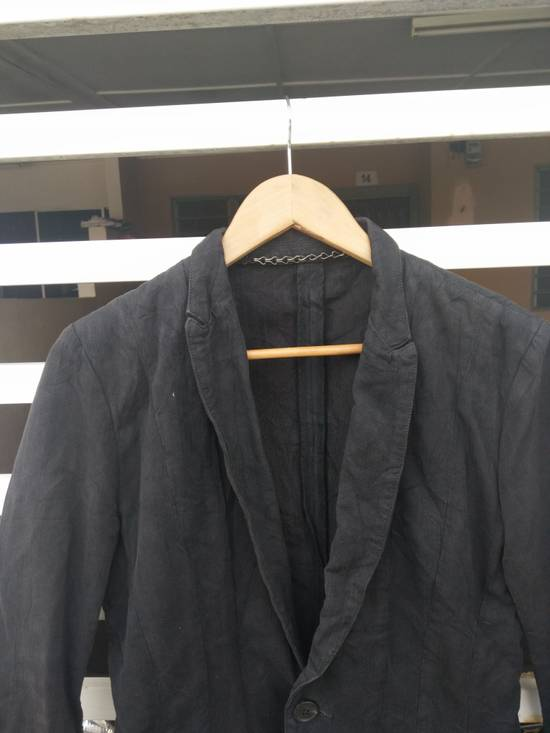 Julius Julius 2004 The Structure Black Cotton Coat Jacket Blazer Size US S / EU 44-46 / 1 - 5