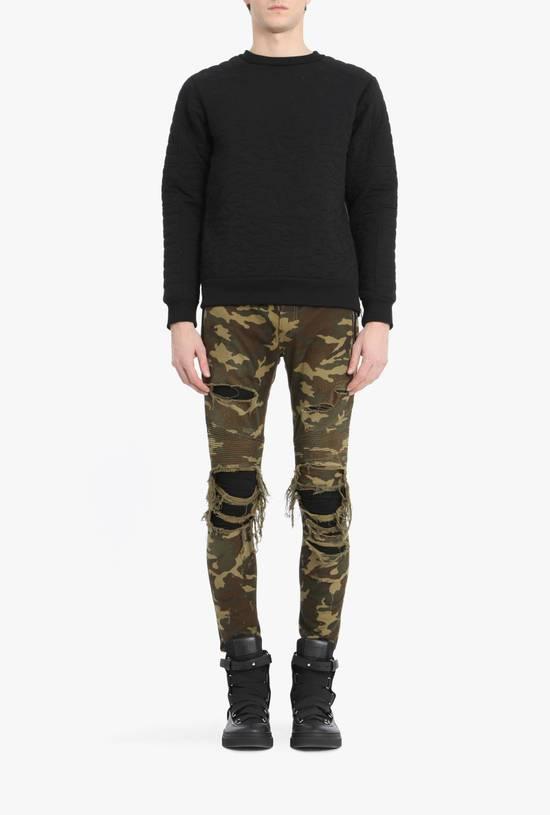 Balmain Size 36 - Heavily Distressed Camo Biker Jeans - FW17 - RARE Size US 36 / EU 52 - 11