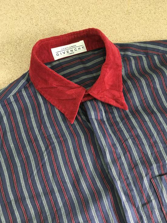 Givenchy Gentleman Givenchy Indigo Red Stripes Casual Shirt Made in Italy Size US M / EU 48-50 / 2 - 8