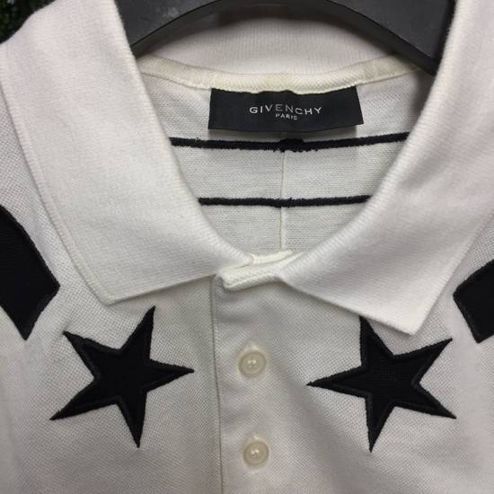 Givenchy Star Striped White Polo Size US M / EU 48-50 / 2 - 2