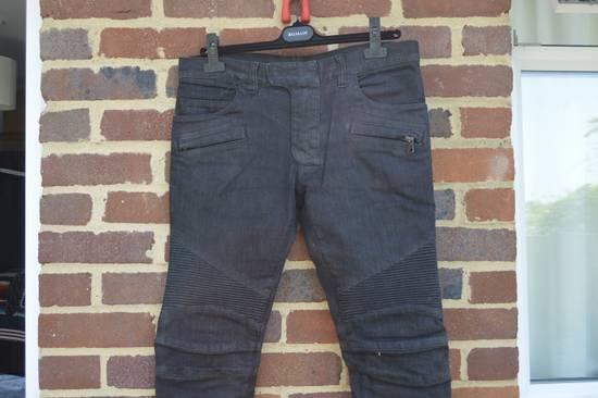 Balmain Black Biker Jeans Size US 30 / EU 46 - 1
