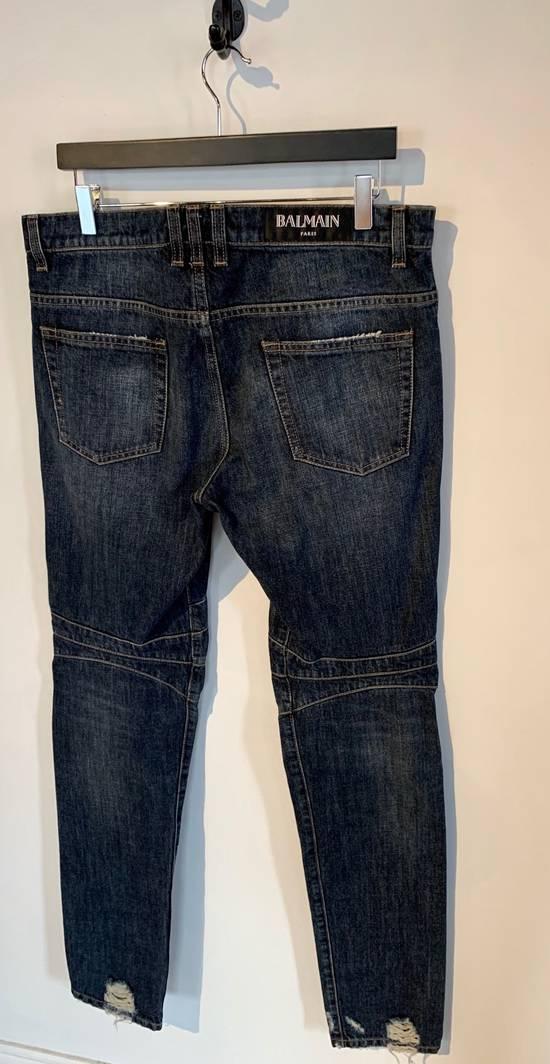 Balmain Balmain Washed Indigo Blue Biker Jeans Size US 32 / EU 48 - 3