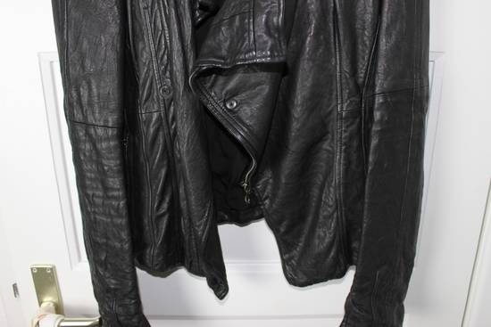 Julius 11aw halo asymmetrical leather jacket Size US M / EU 48-50 / 2 - 9