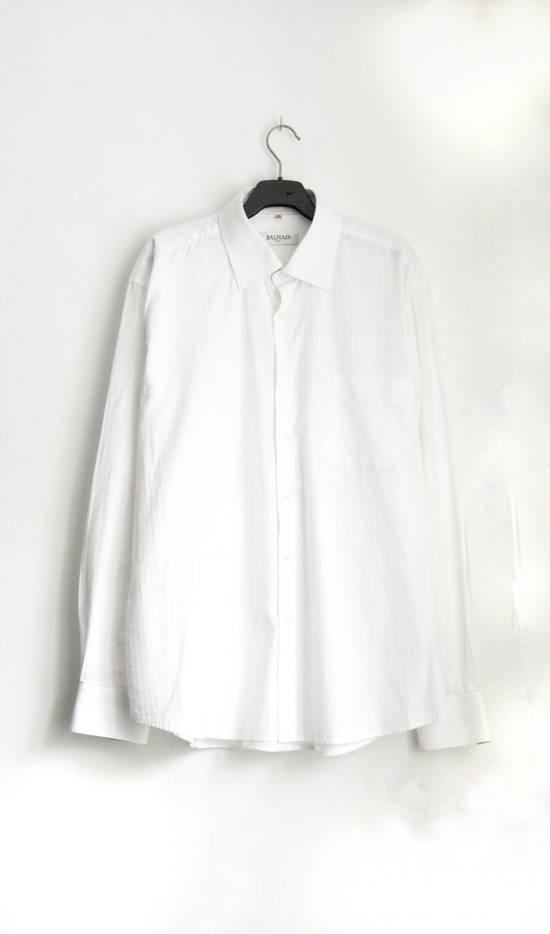 Balmain Classic Processed Cotton Shirt Size US XL / EU 56 / 4