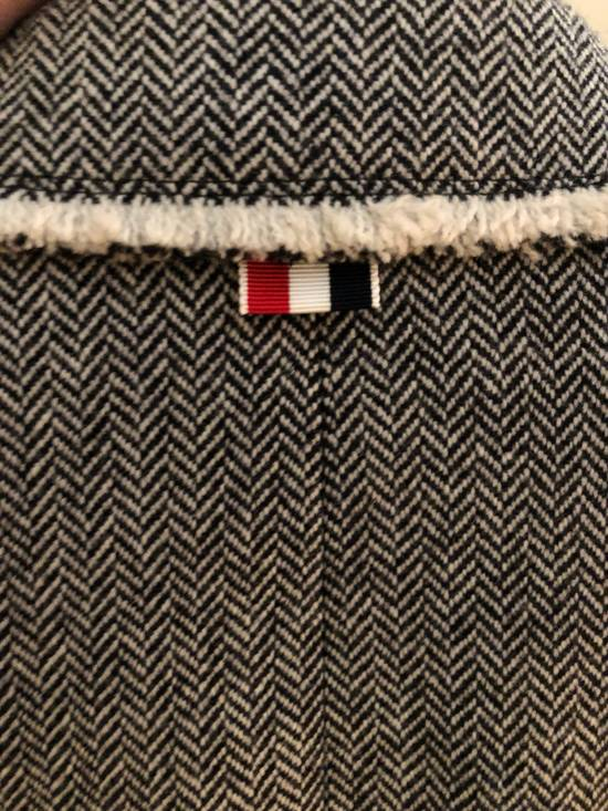 Thom Browne Frayed Wool High Arm Sportcoat Grosgrain Pattern Size 34R - 5