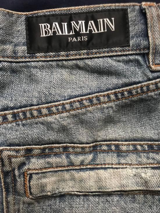 Balmain 2012 Double Zippers Stonewash Size US 33 - 3