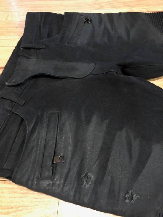 Balmain Balmain Biker Jeans Black Distressed Size US 32 / EU 48 - 2
