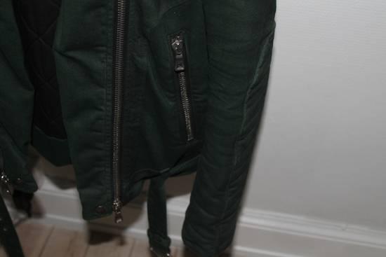 Balmain Forrest Green Biker Jacket sz S Size US S / EU 44-46 / 1 - 2