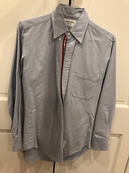 Thom Browne Blue Grosgrain Oxford Shirt Size US S / EU 44-46 / 1