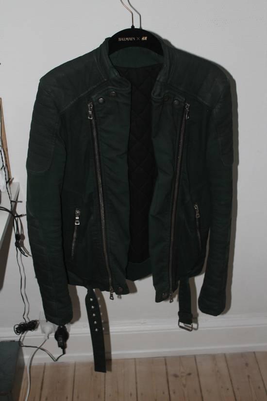 Balmain Forrest Green Biker Jacket sz S Size US S / EU 44-46 / 1