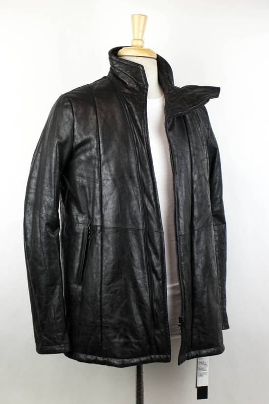 Julius 7 Men's Black Lamb Skin Leather Zip-Up Jacket Size 2/S Size US S / EU 44-46 / 1 - 2