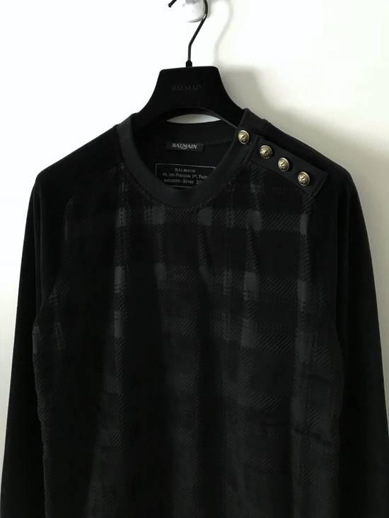 Balmain Size Small - Checked Button Shoulder Sweatshirt- FW16 - $1050 Retail Size US S / EU 44-46 / 1 - 1