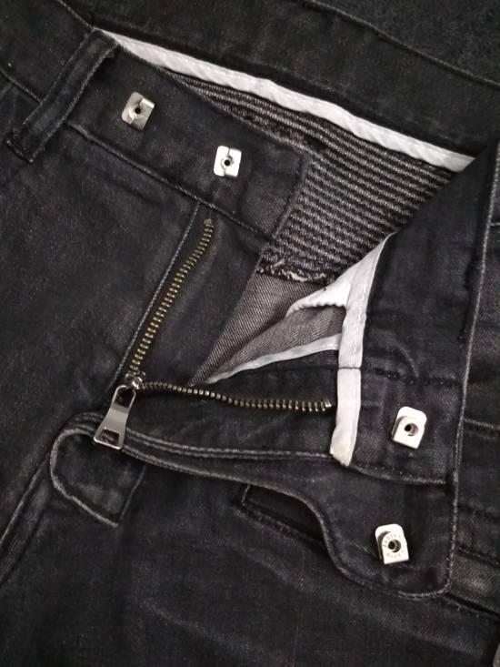 Balmain Authentic BALMAIN Dark Grey Slim Biker Stretch Denim Jeans Made in Italy Size US 32 / EU 48 - 13