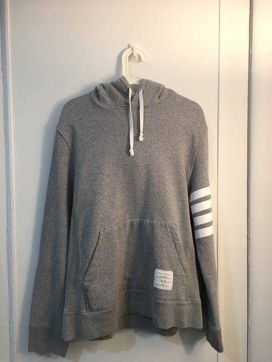 Thom Browne [RARE] Gray Thom Brown 4 Striped Pullover Hoodie Size 2 Size US M / EU 48-50 / 2
