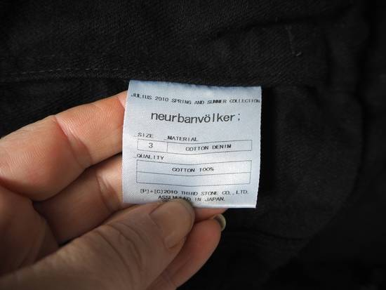 Julius Neurbanvolker black disstressed heavy waxed coat as new Size US L / EU 52-54 / 3 - 12