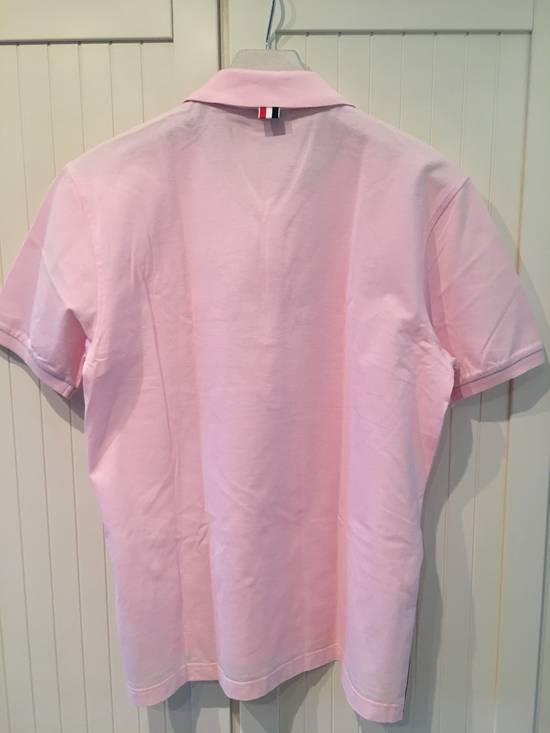 Thom Browne Striped Trim Polo Shirt in Light Pink Size US L / EU 52-54 / 3 - 4