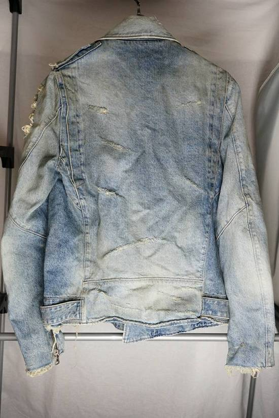 Balmain Denim Moto Jacket Size US S / EU 44-46 / 1 - 1