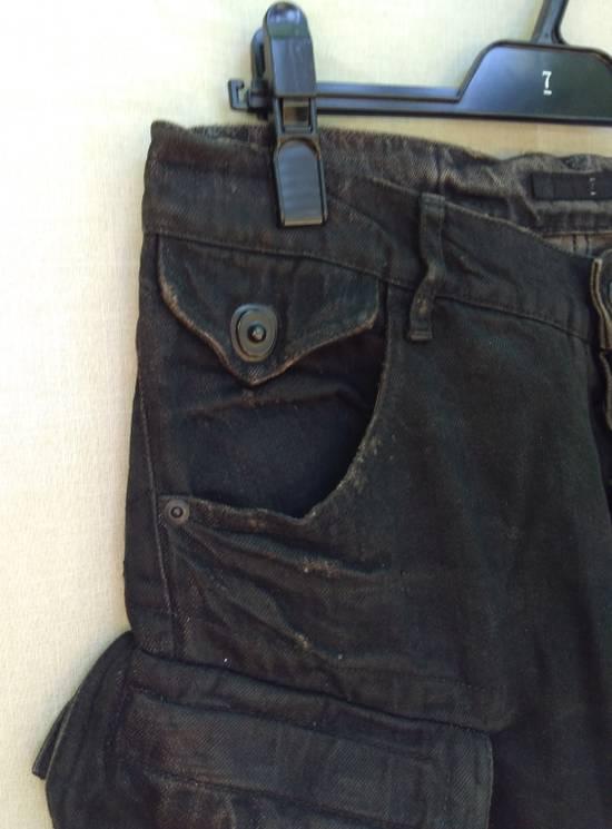 Julius Gas Mask Cargos Brown Waxed Denim Size US 31 - 4