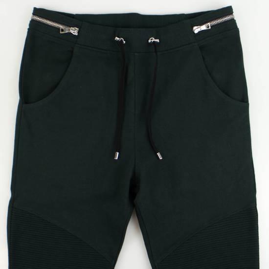 Balmain Men's Green Cotton Leggings Biker Pants Size XL Size US 38 / EU 54 - 4