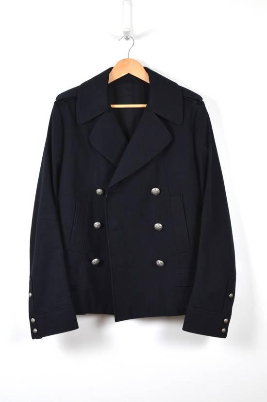 Balmain Cotton Gabardine Nappa Pea Coat Size US L / EU 52-54 / 3