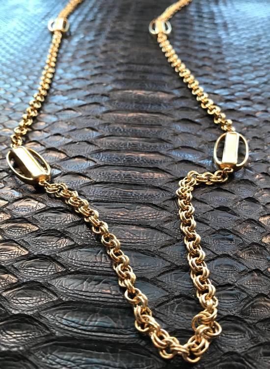 Givenchy Gold Razor Motif Necklace Chain Size 34 - 1