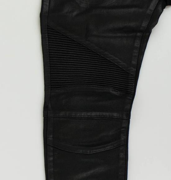 Balmain Black Waxed Cotton Denim Skinny Jeans Size US 31 - 6