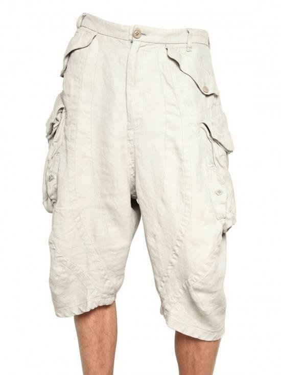 Julius Gas Mask Cargo Shorts White Bamboo Twill ss12 Size US 30 / EU 46 - 7