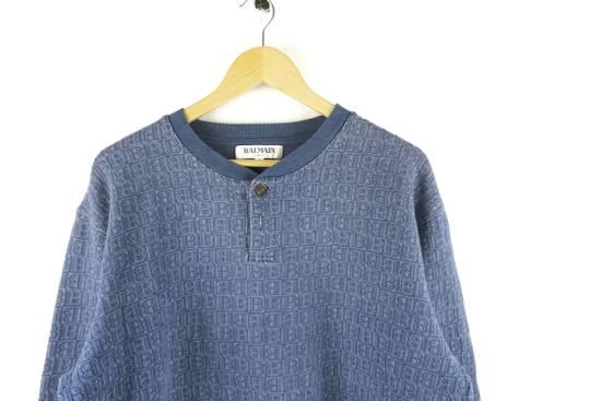 Balmain Vintage Balmain Monogram Blue Sweatshirt Size US L / EU 52-54 / 3