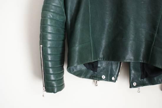 Balmain green leather jacket Size US XL / EU 56 / 4 - 3