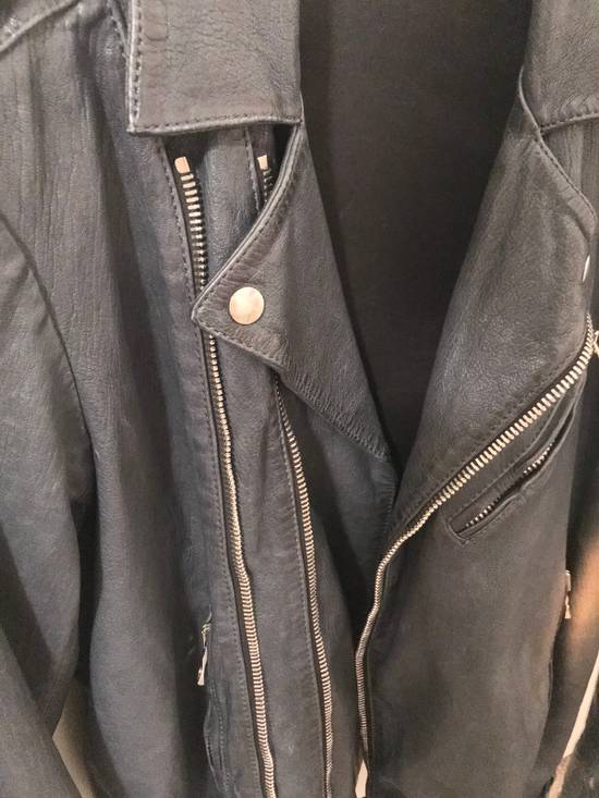 Balmain Navy Balmain Leather Jacket Size US S / EU 44-46 / 1 - 7