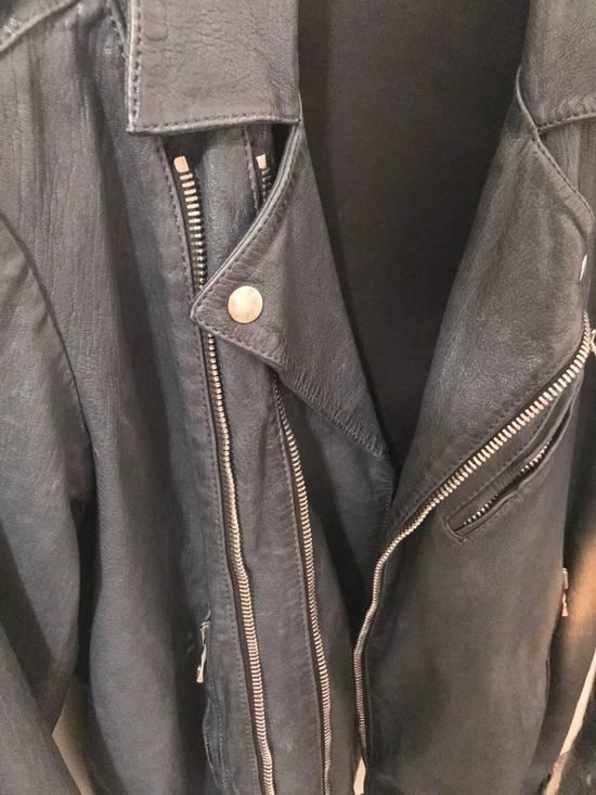 Balmain Navy Balmain Leather Jacket Size US S / EU 44-46 / 1 - 7