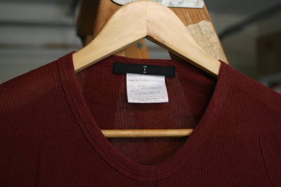 Julius FW08 Blood Red Cotton/Cashmere Rib Longsleeve Size US S / EU 44-46 / 1 - 4