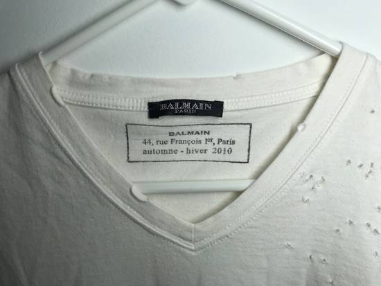 Balmain Balmain Short Sleeve Distressed V-neck Tee Size US L / EU 52-54 / 3 - 1