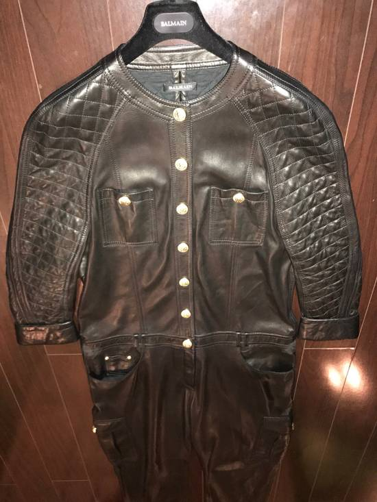 Balmain Balmain Spring 2014 Leather Jumpsuit Size US XL / EU 56 / 4 - 11