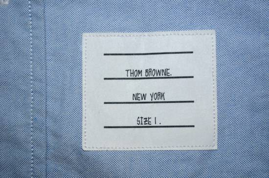 Thom Browne Thom Browne Blue Oxford slim fit Dress shirts Size US L / EU 52-54 / 3 - 2