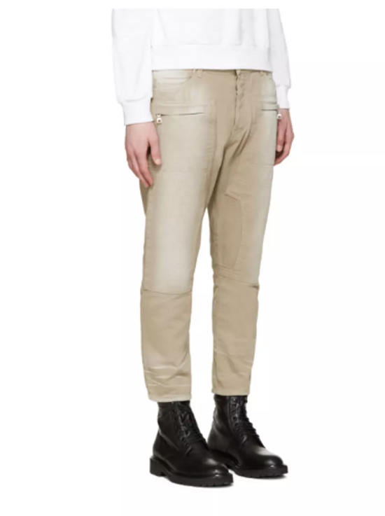 Balmain Cropped Tan Jeans Size US 31